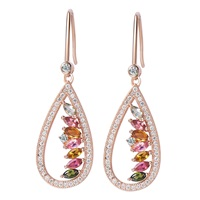 H. Azeem Tourmaline Earrings Rose Gold