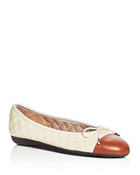 Paul Mayer Best Quilted Leather Ballet Flats Luggage Brown