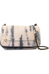 Jerome Dreyfuss Bobi Tie Dye Leather Shoulder Bag Blue