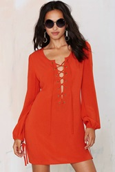 Nasty Gal After Party Vintage Tie The Knot Dress Rust
