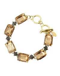 Greenbeads By Emily And Ashley Two Tone Crystal Station Bracelet Taupe Gray