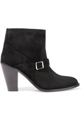 Saint Laurent Nubuck Ankle Boots Black