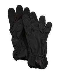 Stone Island Faux Suede Gloves Black