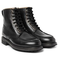Tom Ford Leather Boots Black