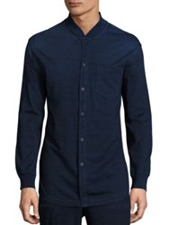 Ag Jeans Jersey Shirt Jacket Navy