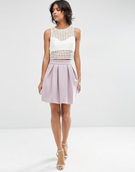 Asos Mini Prom Skirt In Scuba Purple