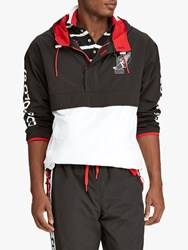 Ralph Lauren Polo P Wing Graphic Pullover Jacket Polo Black White