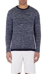 Inis Meain Rolled Edge Sweater Blue