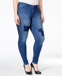 Styleandco. Style Co. Plus Size Patchwork Tummy Control Slim Leg Jeans Only At Macy's Fiji