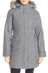 The North Face Women's 'Arctic' Down Parka With Removable Faux Fur Trim Hood Tnf Medium Grey Heather