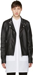 Diesel Black Gold Leather Biker Jacket