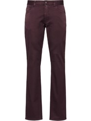 Prada Five Pocket Tapered Jeans Purple