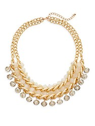 Gemma Simone Layered Chain And Bead Necklace Gold