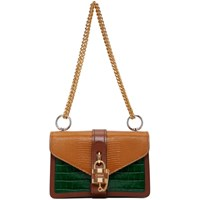 Chloe Brown And Green Aby Chain Bag