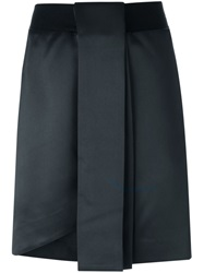 Manish Arora Pleated Front Detail Short Skirt Black