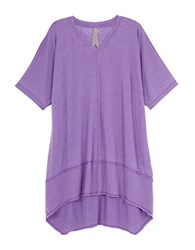 Melissa Mccarthy Seven7 Plus Stretch Cotton Hi Lo Tunic Purple