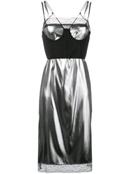 Maison Martin Margiela Bustier Lace Dress Metallic