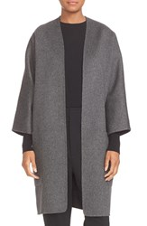 Vince Women's Reversible Wool And Cashmere Long Cardigan Coat Dark Grey Graphite