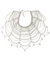 Carolee Cubic Zirconia Studded Statement Collar Necklace White
