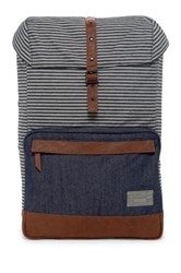 Hex Accessories Stinson Print And Denim Backpack Gray