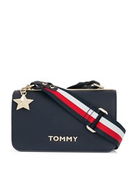 Tommy Hilfiger Foldover Top Crossbody Bag Blue