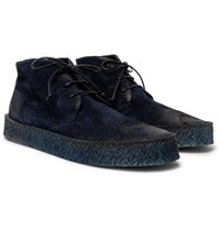 Marsell Washed Suede Desert Boots Navy