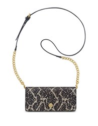 Anne Klein Lace Snake Accordion Convertible Crossbody Black Gold
