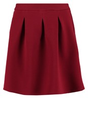 Naf Naf Lashopy Pleated Skirt Burgundy Bordeaux