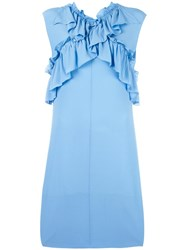 Marni Ruffled Dress Blue
