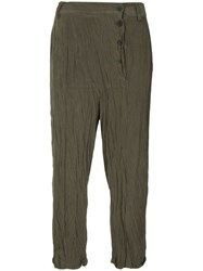 Taylor Panelled Relief Trousers Green