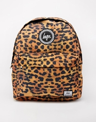 Hype Leopard Backpack Beige