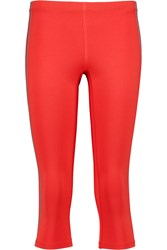 Theory Tia Stretch Jersey Leggings Red