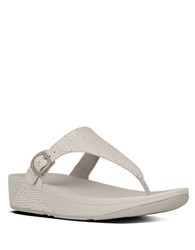 Fitflop The Skinny Canvas Toe Thong Sandals Beige