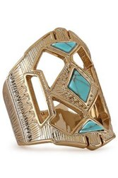 Noir Jewelry Woman 14 Karat Gold Plated Stone Ring Gold