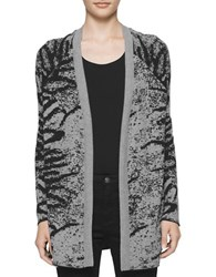 Calvin Klein Jeans Long Sleeve Open Front Knit Cardigan Grey