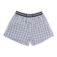 Boss Two Pack Navy And Blue Check Printed Boxers