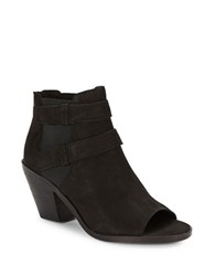 Eileen Fisher List Tumbled Nubuck Ankle Boots Black