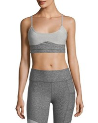 X By Gottex Racerback Strap Sports Bra Light Gray