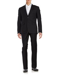 Hardy Amies Two Piece Wool Suit Set Black