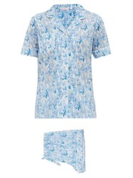 Derek Rose Ledbury 23 Cotton Pyjama Set Light Blue