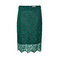 Soaked In Luxury Ava Lace Skirt Green