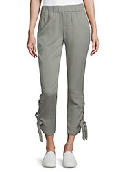 Saks Fifth Avenue Lace Up Jogger Pants Light Green