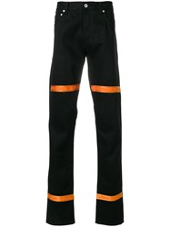 Heron Preston Colour Block Fitted Trousers Black