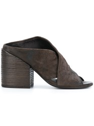 Marsell Cross Strap Mules Brown