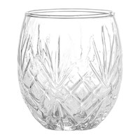 Bloomingville Textured Glass Toothbrush Tumbler Clear