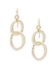 Saks Fifth Avenue Textured Drop Earrings Gold