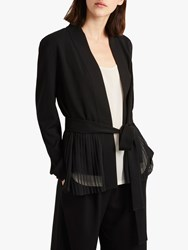French Connection Angeline Belted Pleat Detail Blazer Black