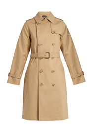 A.P.C. Julianne Cotton Trench Coat Beige
