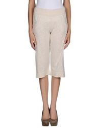 James Perse 3 4 Length Shorts Ivory