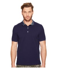 Missoni Solid Pique Polo Navy Men's Clothing